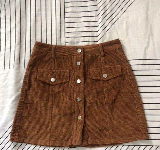Corduroy Miniskirt Size 10