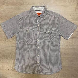 Dickies條紋襯衫 穿搭 條紋 藍白 古裝 vintage 橘標