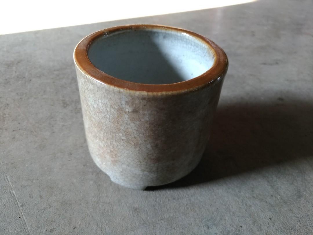Fc03 中國民初 三腳香爐 陶製