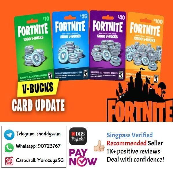 Fortnite V Bucks Gift Card All Region Entertainment Gift Cards Vouchers On Carousell Get free fortnite gift card codes instantly. fortnite v bucks gift card all region