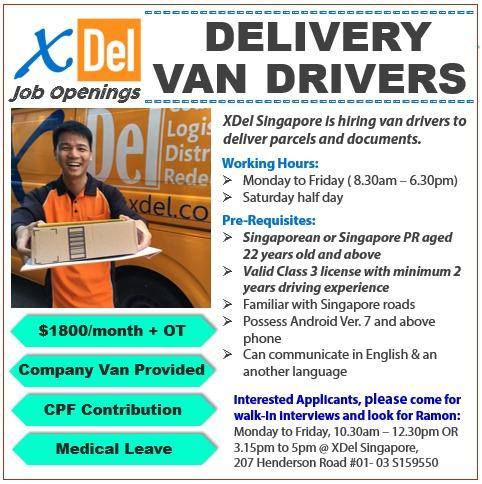 Full Time Van Delivery Driver (Van Provided)