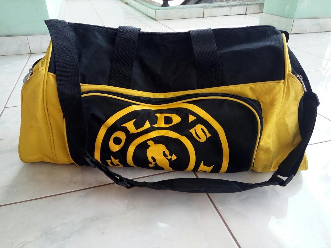 Gym Bag ORIGINAL Gold's Gym Fitness Golds Gym Gold Gym Plus Bonus