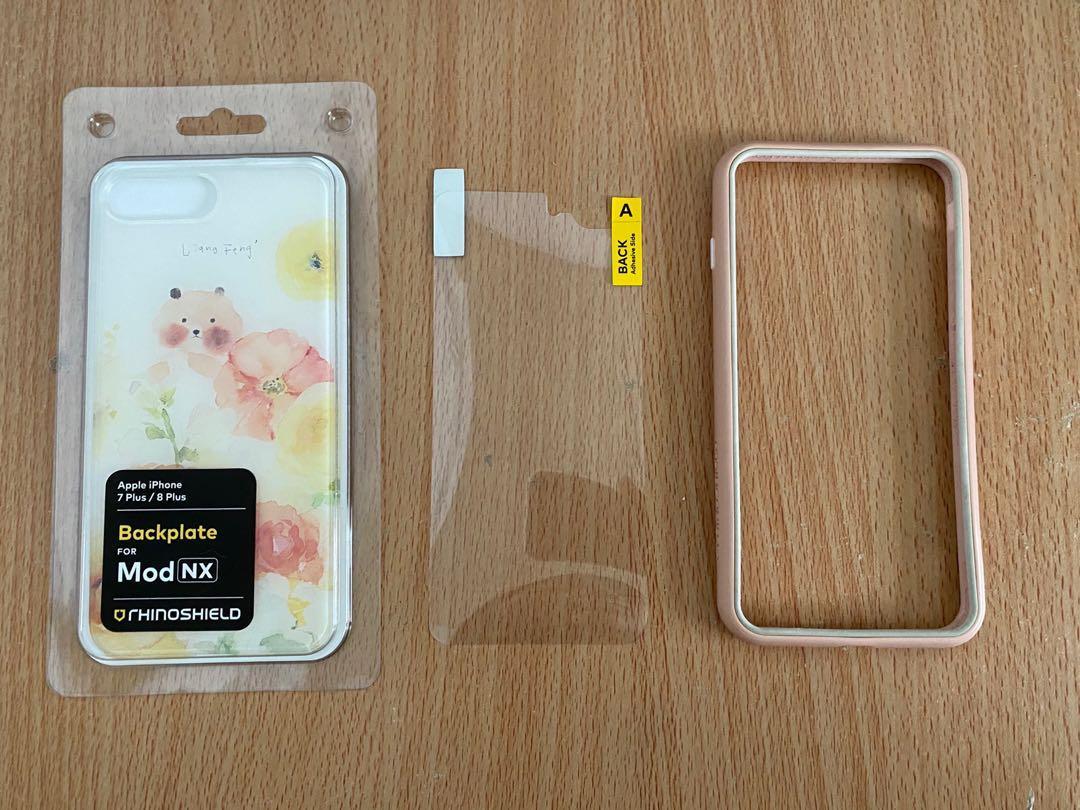 (送一張半滿版玻璃貼) iPhone 7 Plus/8 Plus 犀牛盾 邊框手機殼 粉白撞色 涼丰 Mod NX/CrashGuard NX