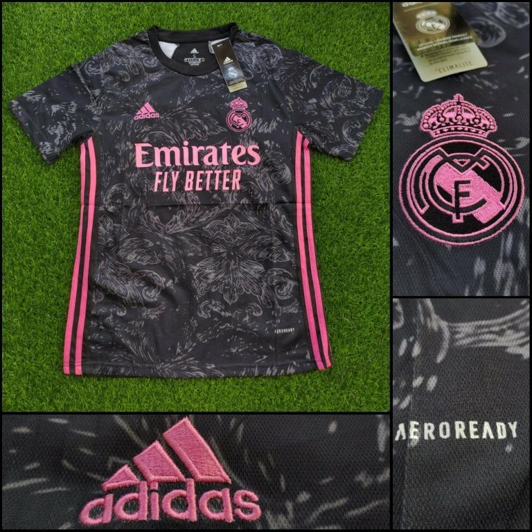 JERSEY BOLA REAL MADRID 3RD 2020/2021 GRADE ORI