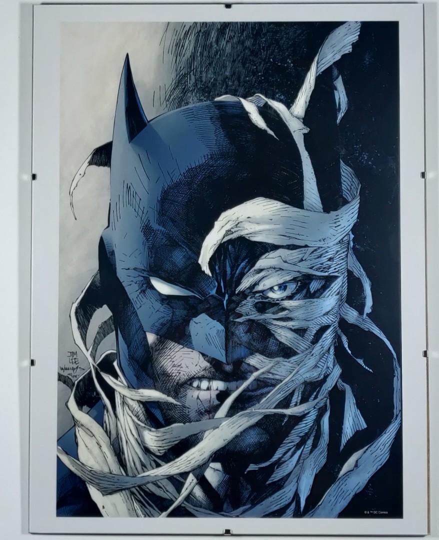 "Jim Lee Batman Hush Cover Art Print - DC Portfolio 12"" x 16"" with Minimalist Glass Frame"