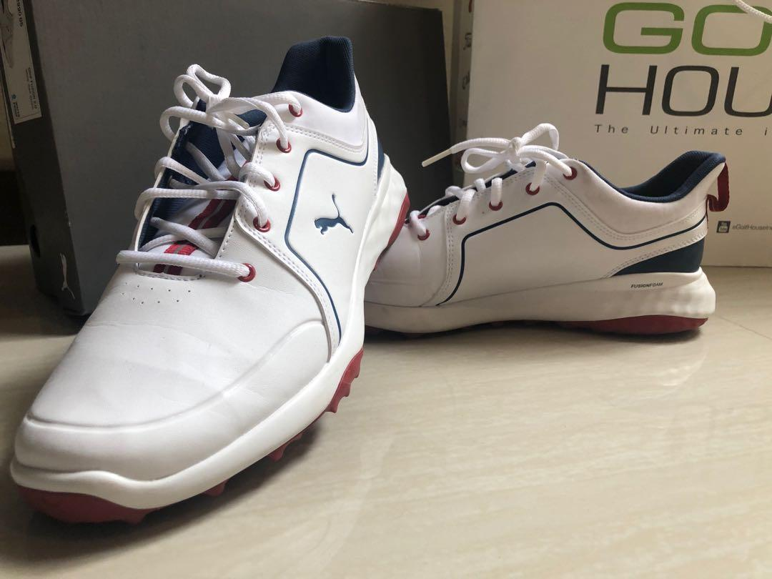 Jual sepatu golf puma ignite 2nd like new baru turun driving 1x