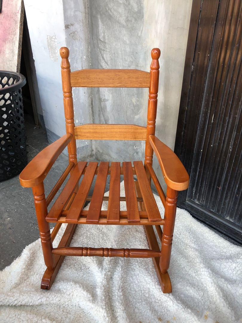 Picture of: Kids Wooden Rocking Chair Babies Kids Others On Carousell