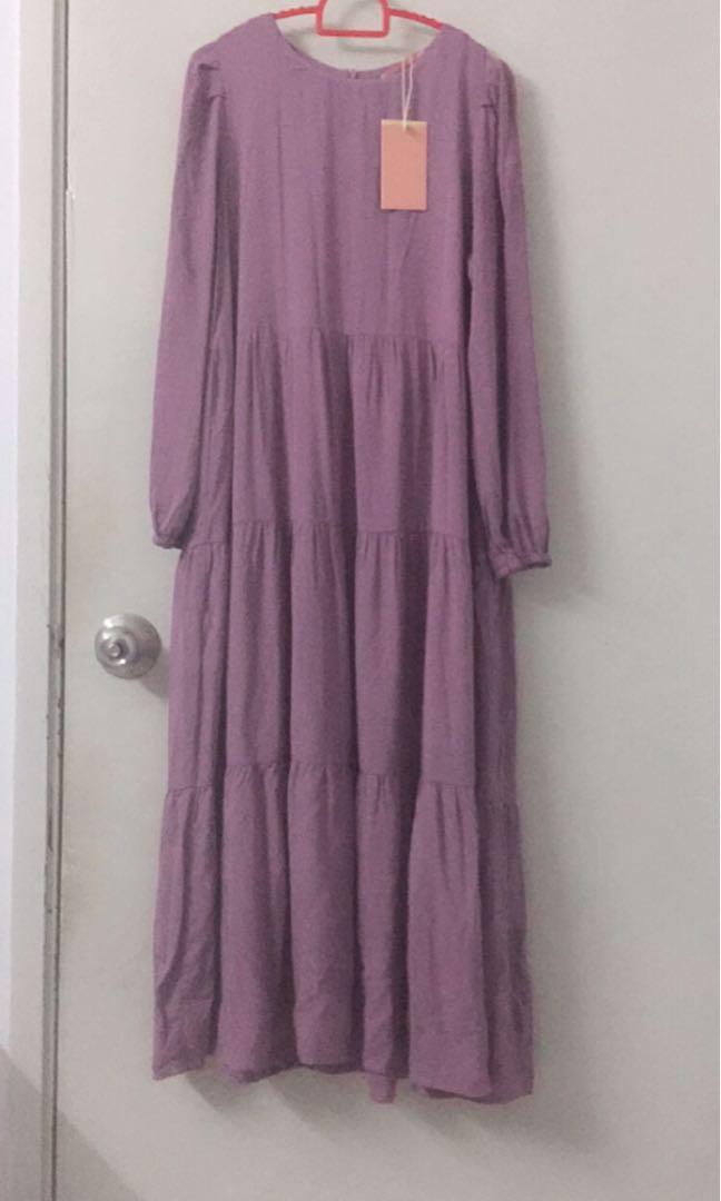 Ladies Purple Long Dress Muslimah Fashion Dresses On Carousell