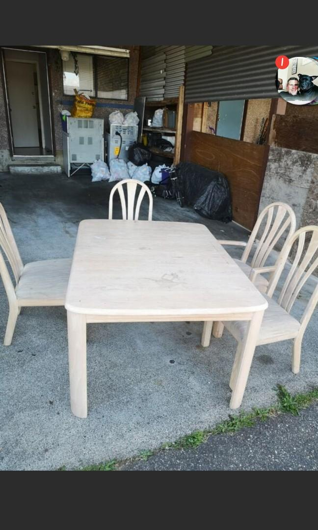 Large Dining table. W/ 6chairs, Coffee table set