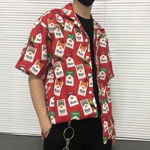 紅marlboro滿版襯衫