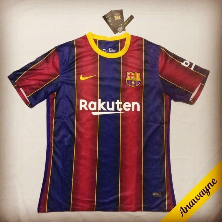 Medium Barcelona Fc Nike Home Kit 20 21 Football Soccer Jersey Premium Top Quality Aaa Sports Athletic Sports Clothing On Carousell