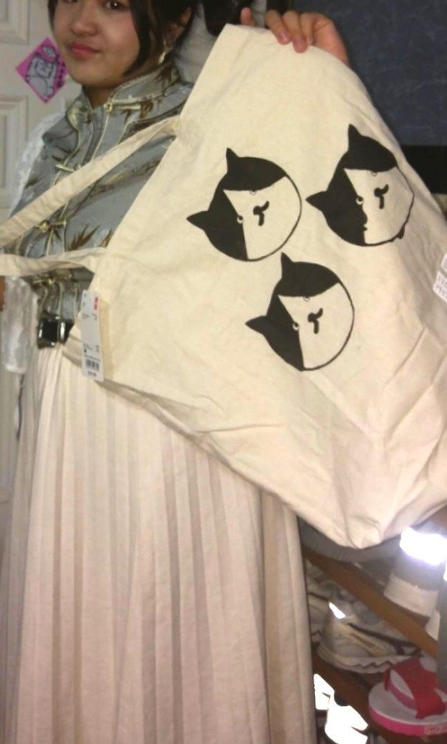 手工絹印の貓咪Muji提袋(可自選尺寸)