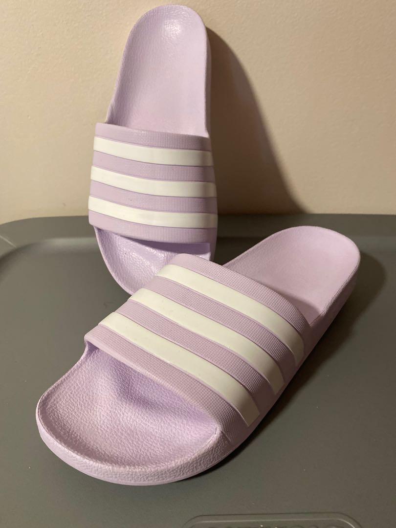 ✨NWT✨ Adidas Adilette Purple Slides 8