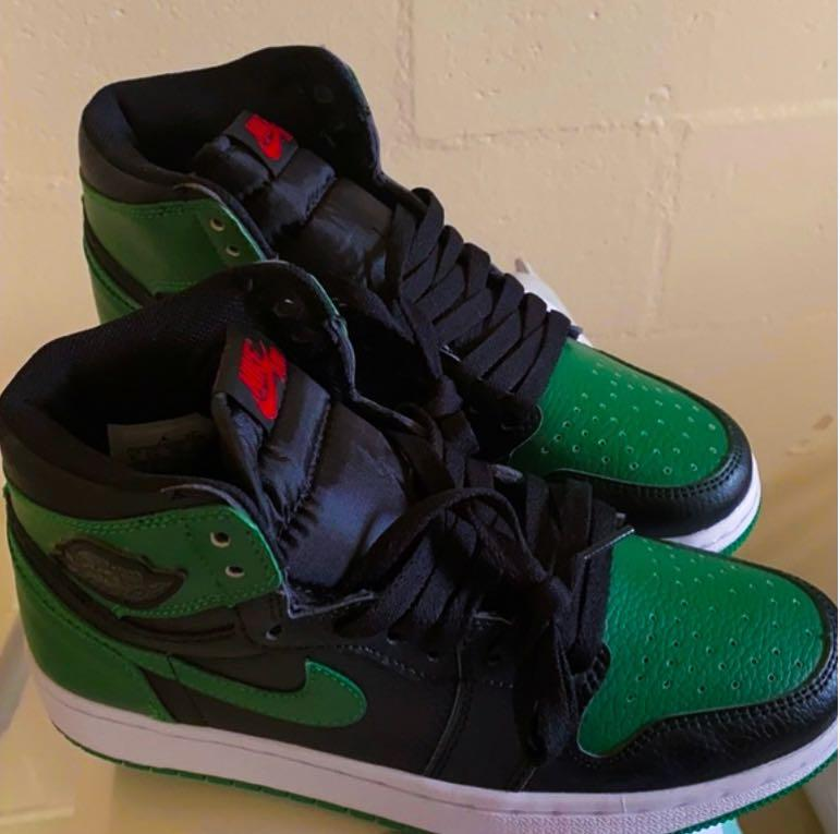 Pine greens Jordan 1s