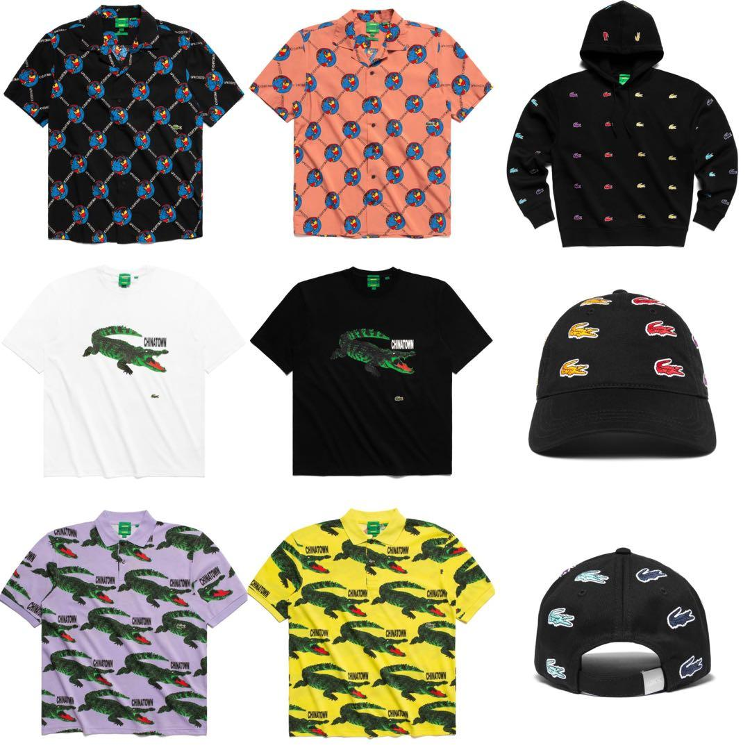 Po Lacoste X Chinatown Market Tshirt Hoodie Shirt Cap Men S Fashion Clothes Tops On Carousell