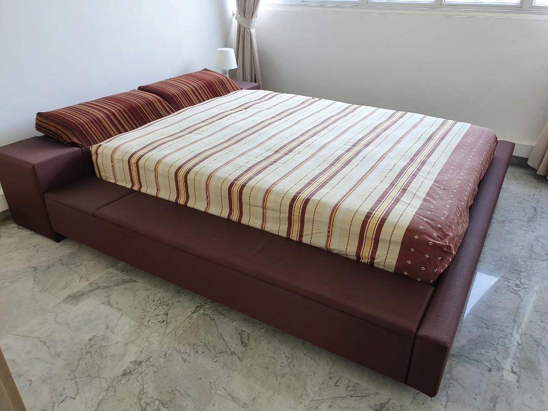 Picture of: Queen Bedframe Used With Storage For Sale Furniture Beds Mattresses On Carousell