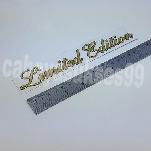 Sticker Timbul LIMITED EDITION Gold 20cm x 3.5cm Stiker Body Motor Stiker Kaca Mobil Kilap Reflective Stiker Emblem Harga Satuan