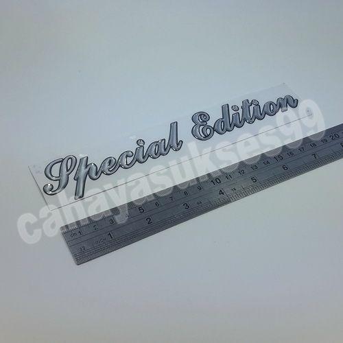 Sticker Timbul SPECIAL EDITION Silver Chrom Reflective 20cm x 3.5cm Stiker Body Motor Stiker Kaca Mobil Stiker Emblem Harga Satuan