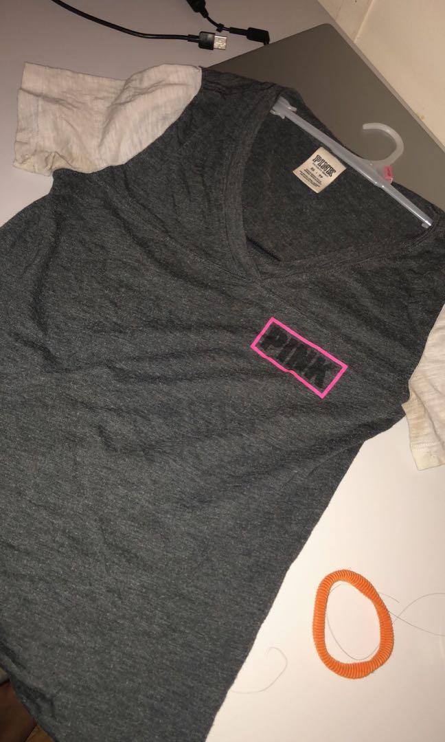 Victoria Secret (pink) v neck shirt