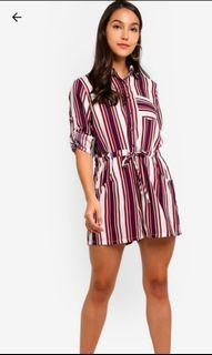 wide collared playsuit