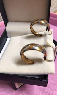 18K圓環耳環(附盒子)