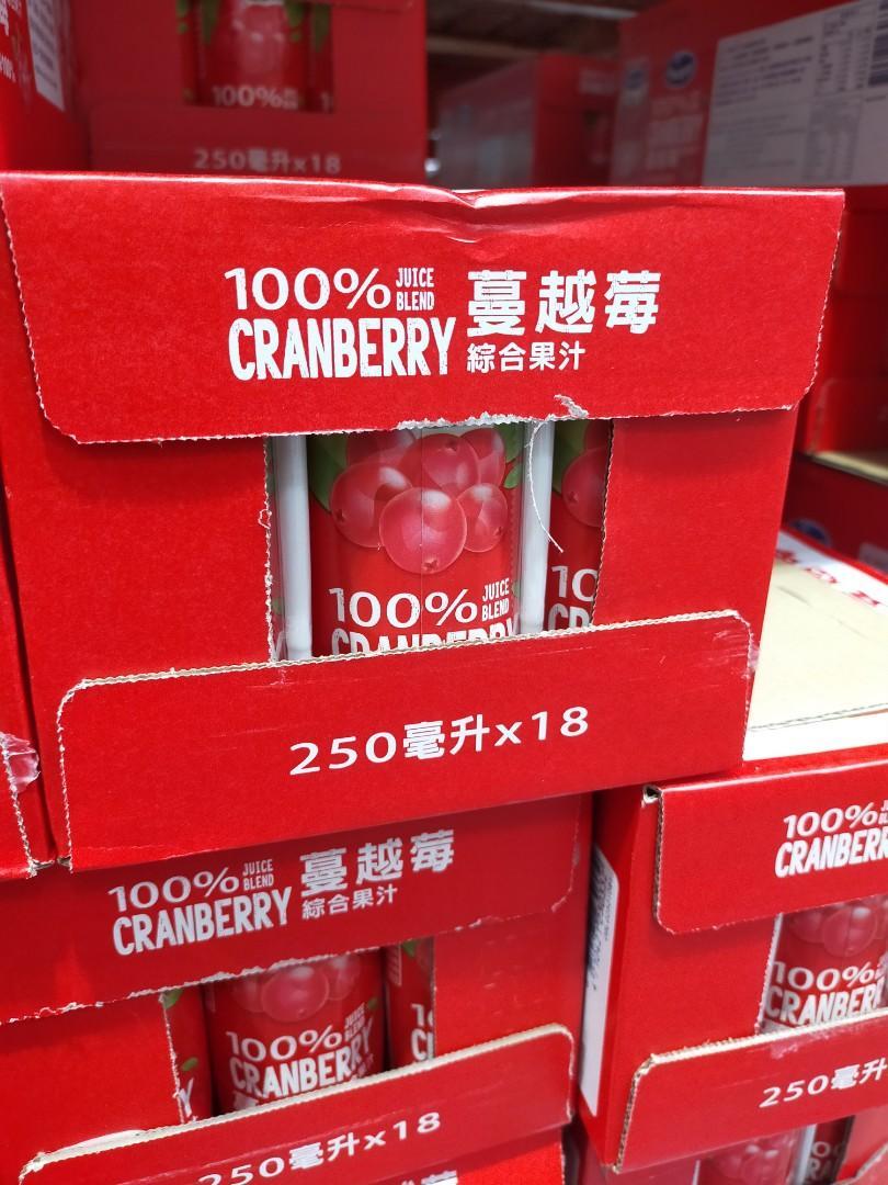 一瓶250毫升 蔓越莓100%果汁 好市多代購 還是有糖