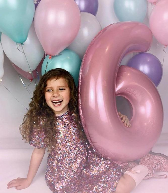 """32"""" Pink Number Foil Balloon"""