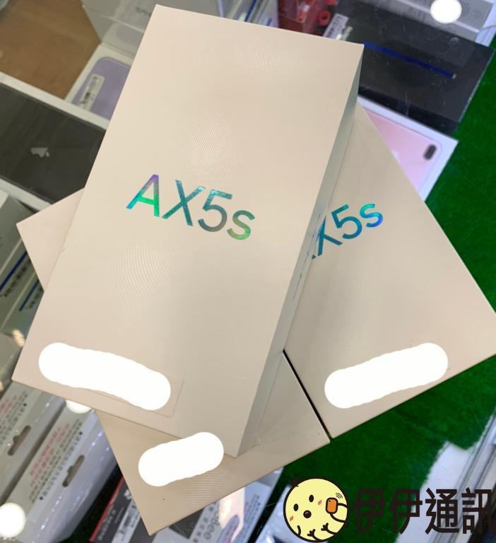 [伊伊通訊Yiyi] 全新未拆福利機Brand new unopened floor model) OPPO AX5s 3G/64G 黑色 Color black 6.2 inch 原廠保固至2020年11月27日Original warranty until November 27, 2020