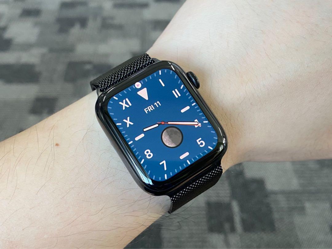 Apple Watch Series 5 44mm GPS + Cellular Space Black Stainless Steel with Milanese Loop