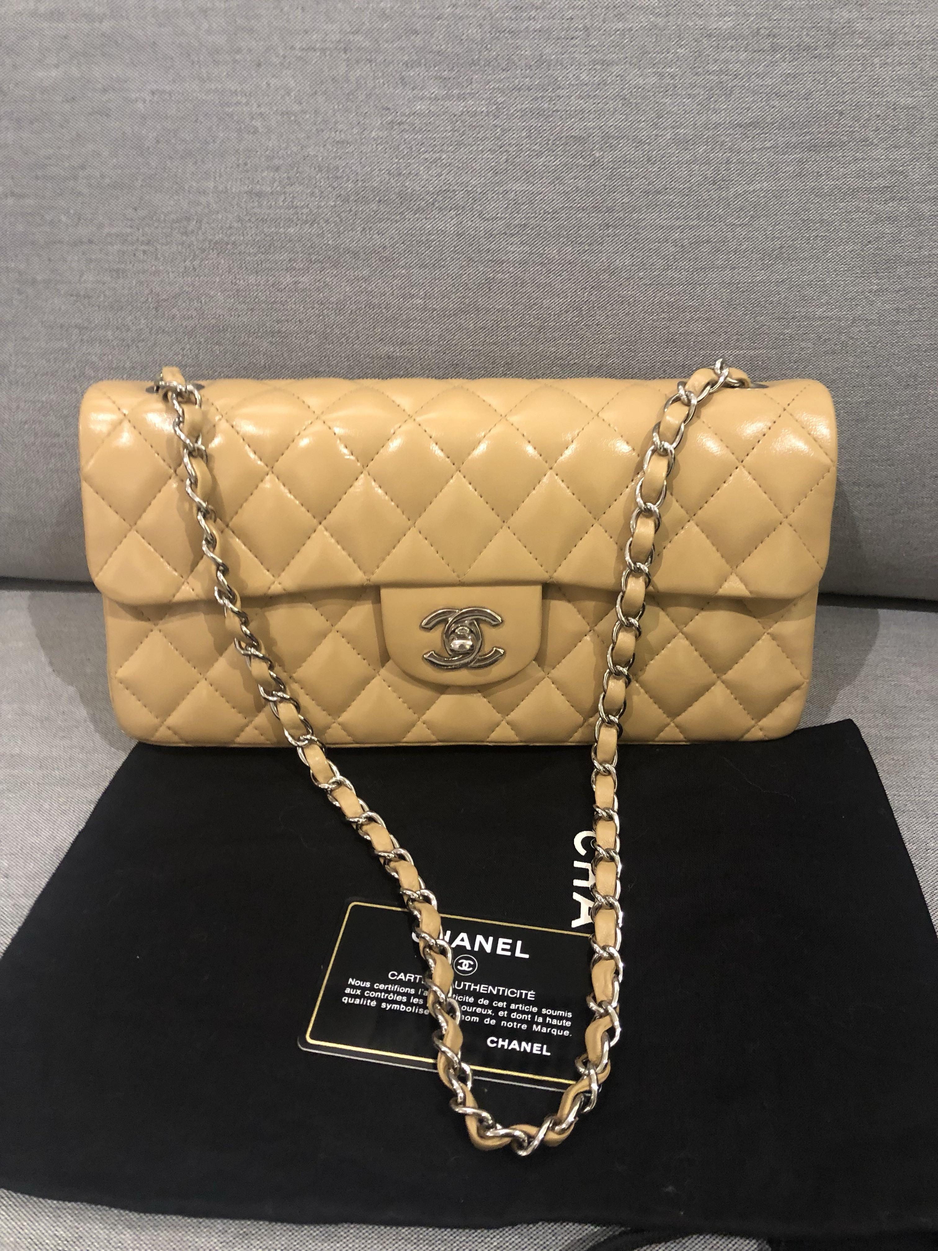 (Fast deal $2300)Authentic Chanel East West Lambskin