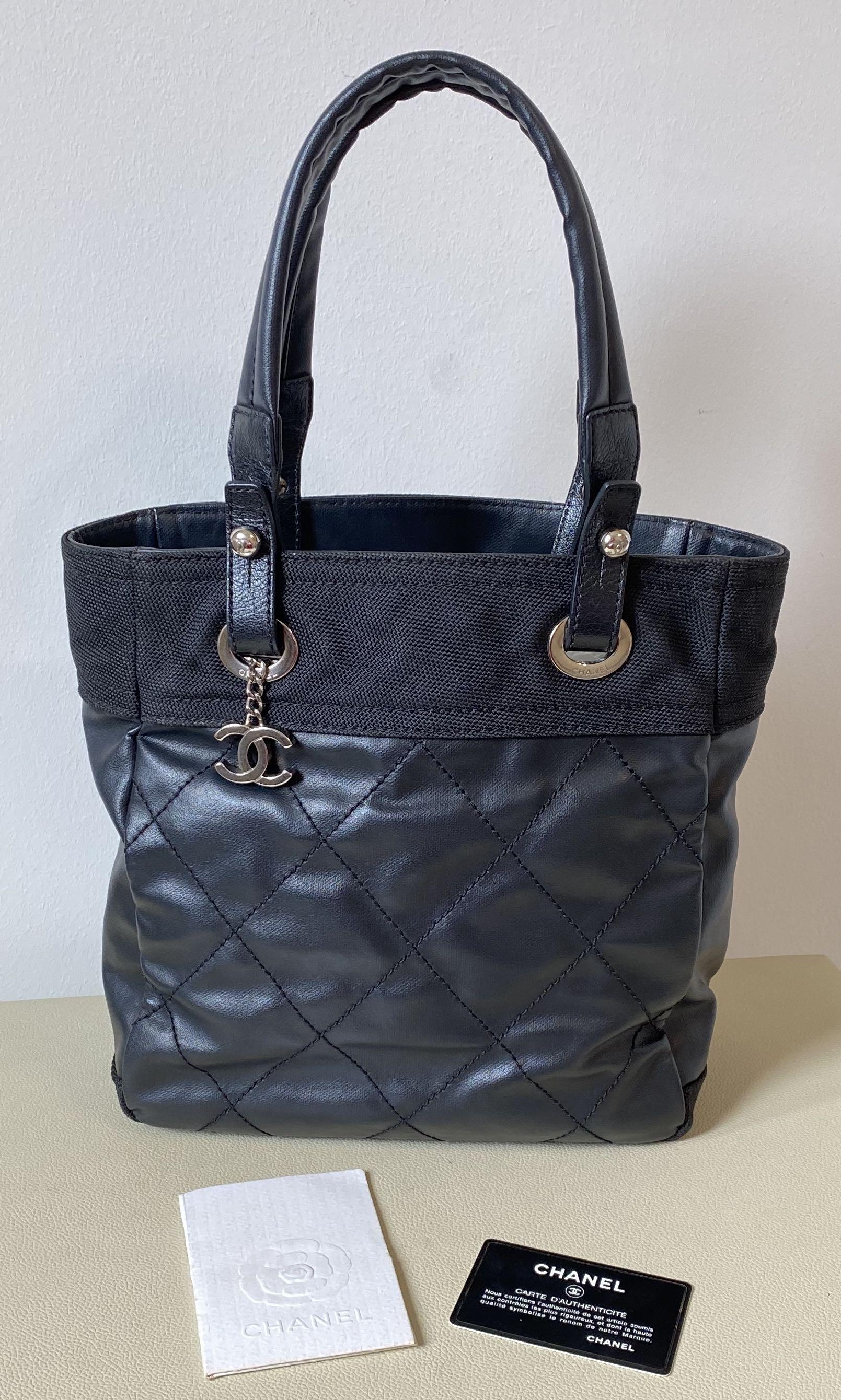 🎉PRICE REDUCED 🎊AUTHENTIC CHANEL PARIS BIARRITZ SMALL TOTE IN BLACK
