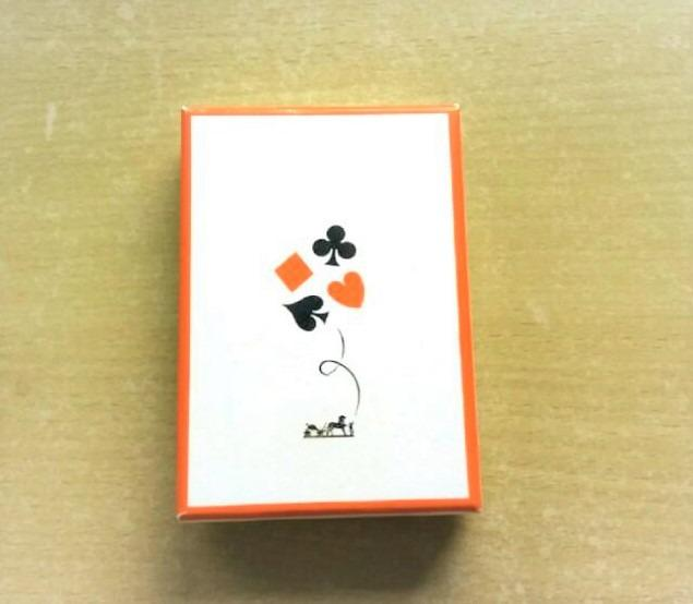 Authentic Hermes playing poker cards