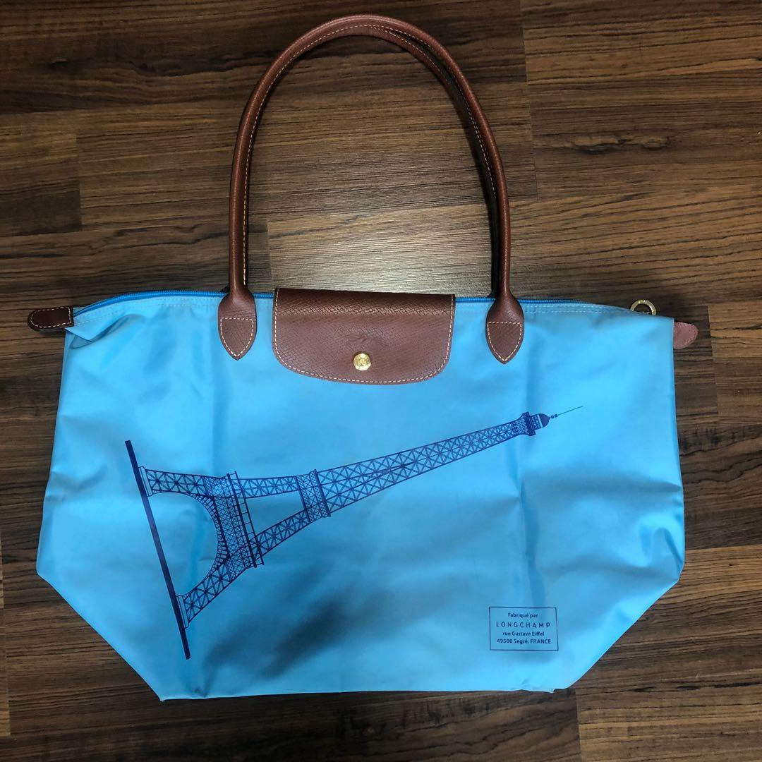 Authentic Longchamp Bag Eiffel Tower Design