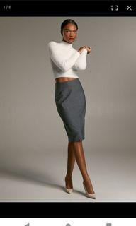 BLACK Aritzia Gabe Pencil Skirt 0