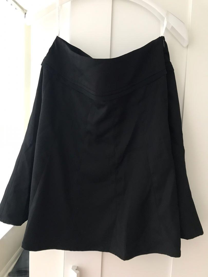 Black skater dress size S