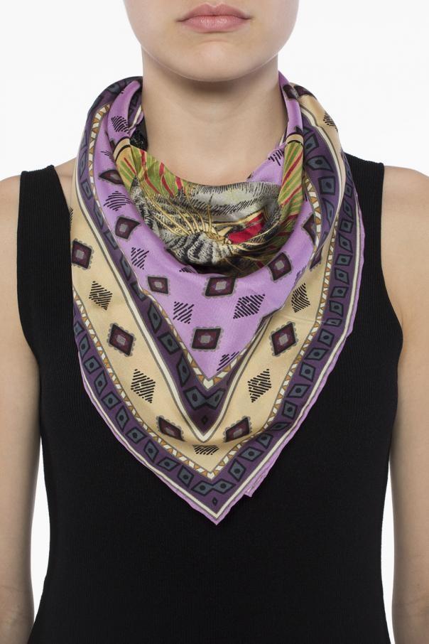 Bnwt Gucci Silk Small Scarf Authentic