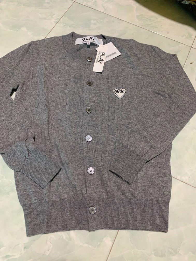 Brand new authentic play commended garçons Grey Cardigan from Japan S