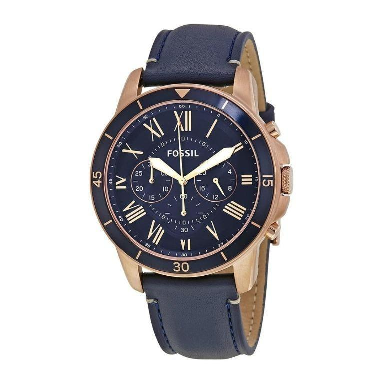 Brand New Fossil Grant Sport Blue Dial Men's Chronograph Watch (FS5237)