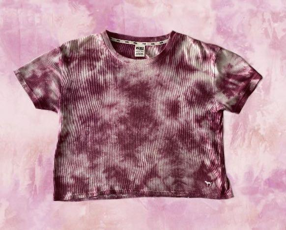 brand new victoria's secret pink tie dye t shirt