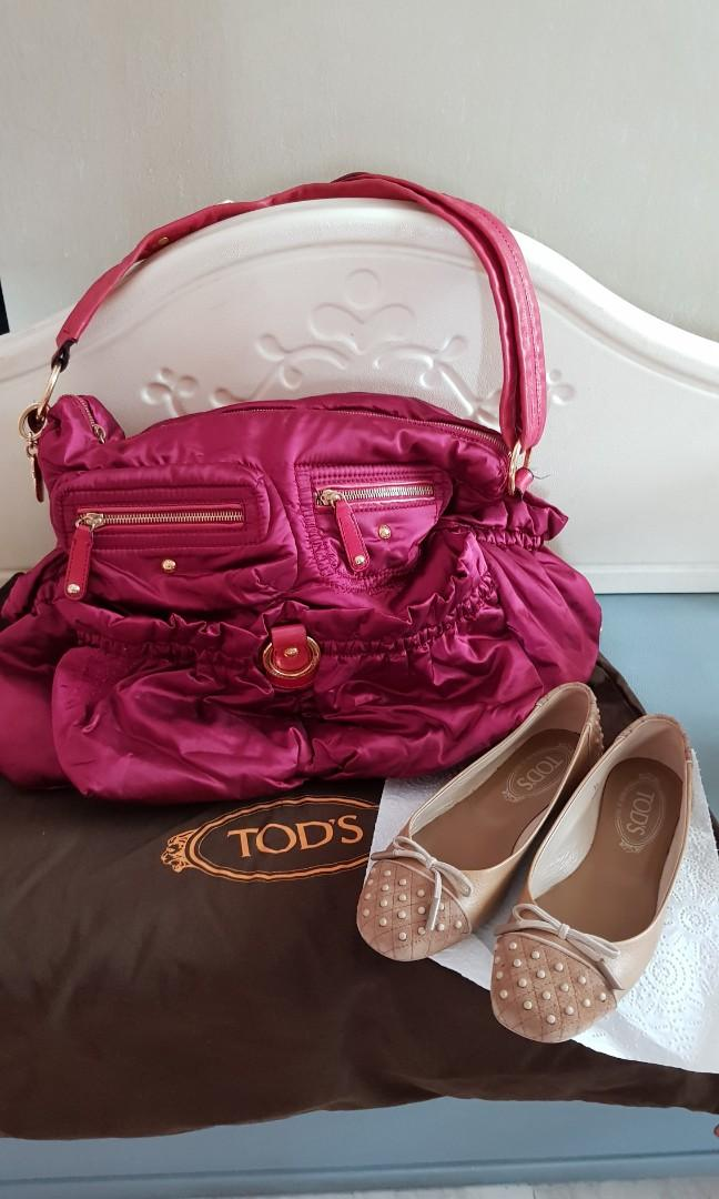 Bundle of  TOD'S Bag + TOD'S Shoes (Size 36) @$140 ONLY!