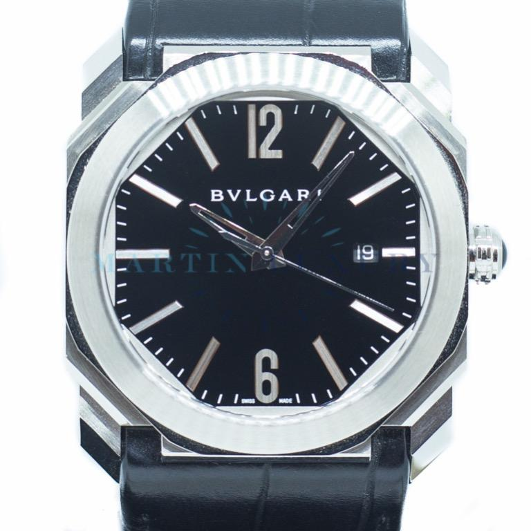 Bvlgari Octo in Stainless Steel & Leather Strap Ref: BGO 041S