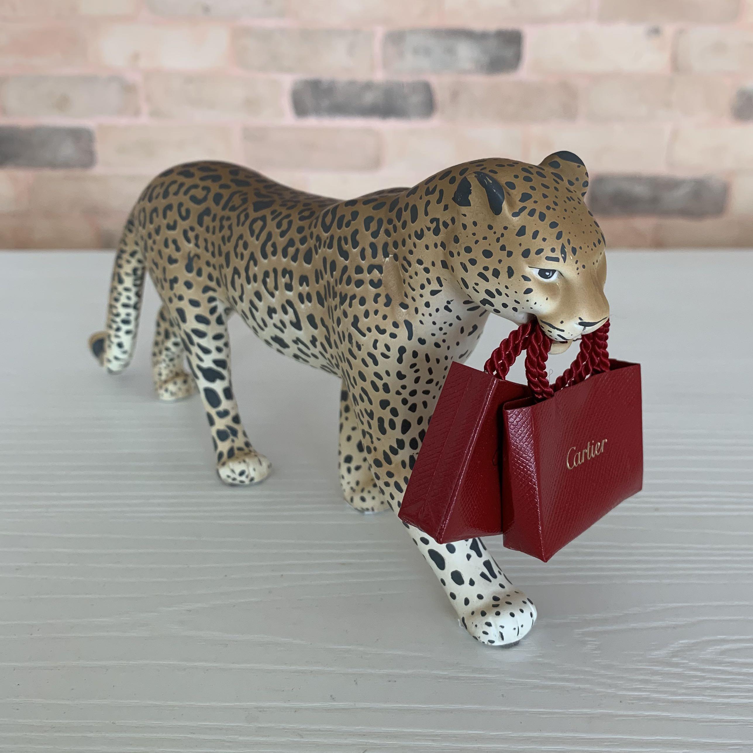 Cartier leopard display