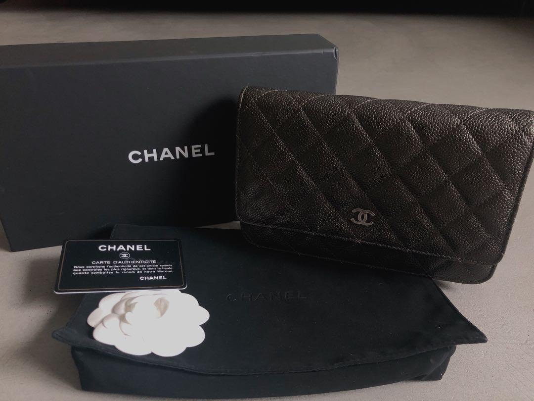 RARE Chanel WOC Charcoal Black