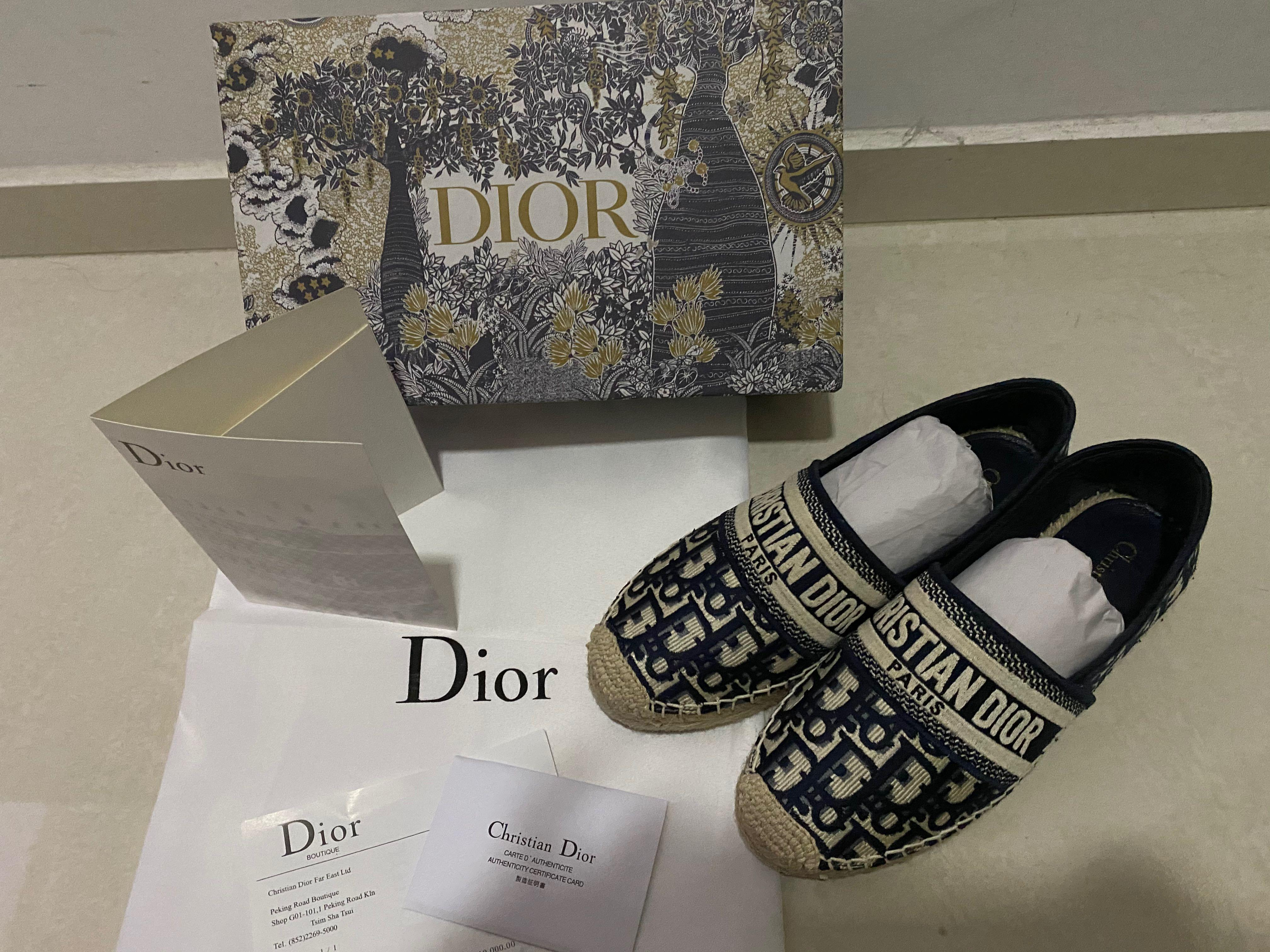 Dior Granville Dark Blue Oblique Espadrilles