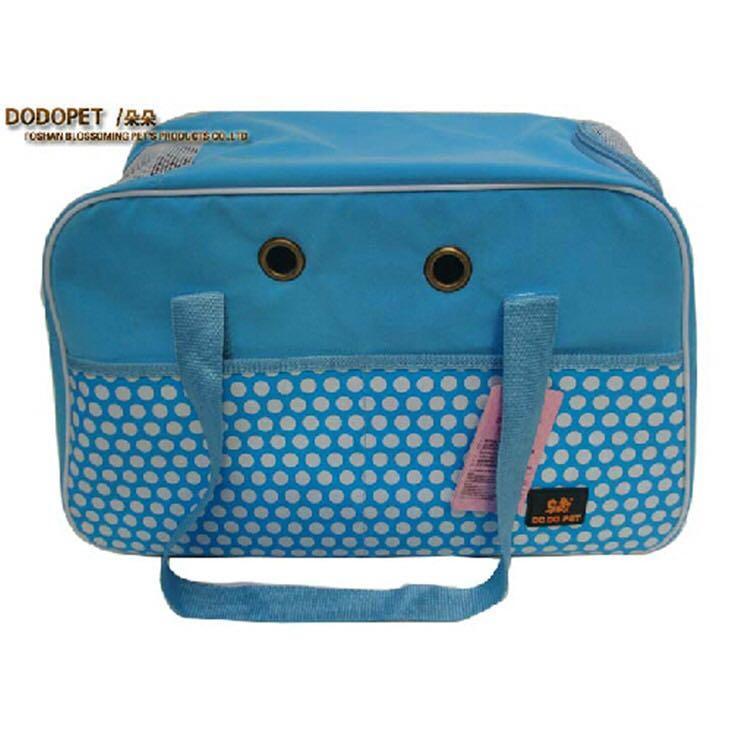 【DODOPET】 馬卡龍色點點寵物外出包 Large (藍)