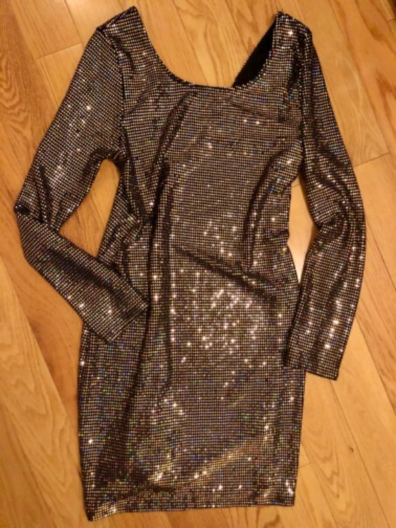 Gold party dress size large