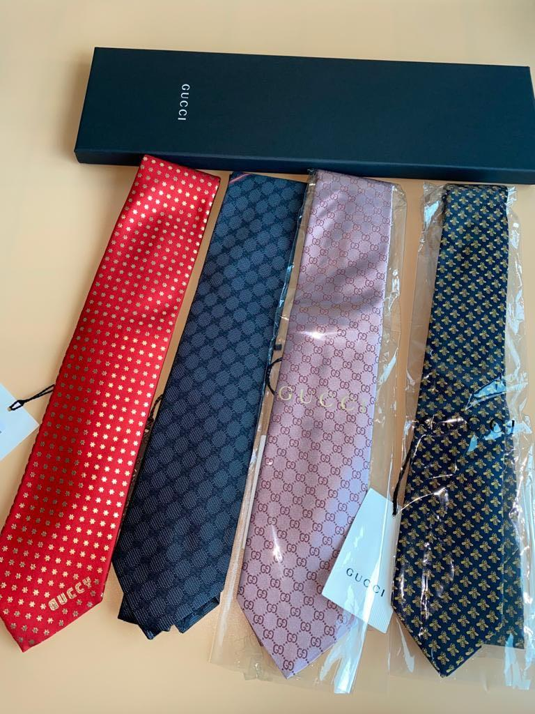 Gucci - 100% Silk Woven Neck Tie - Various Designs - Price For Each