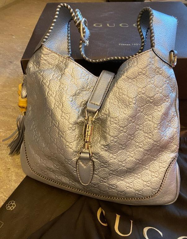 Gucci New Jackie Shoulder Bag (Silver)