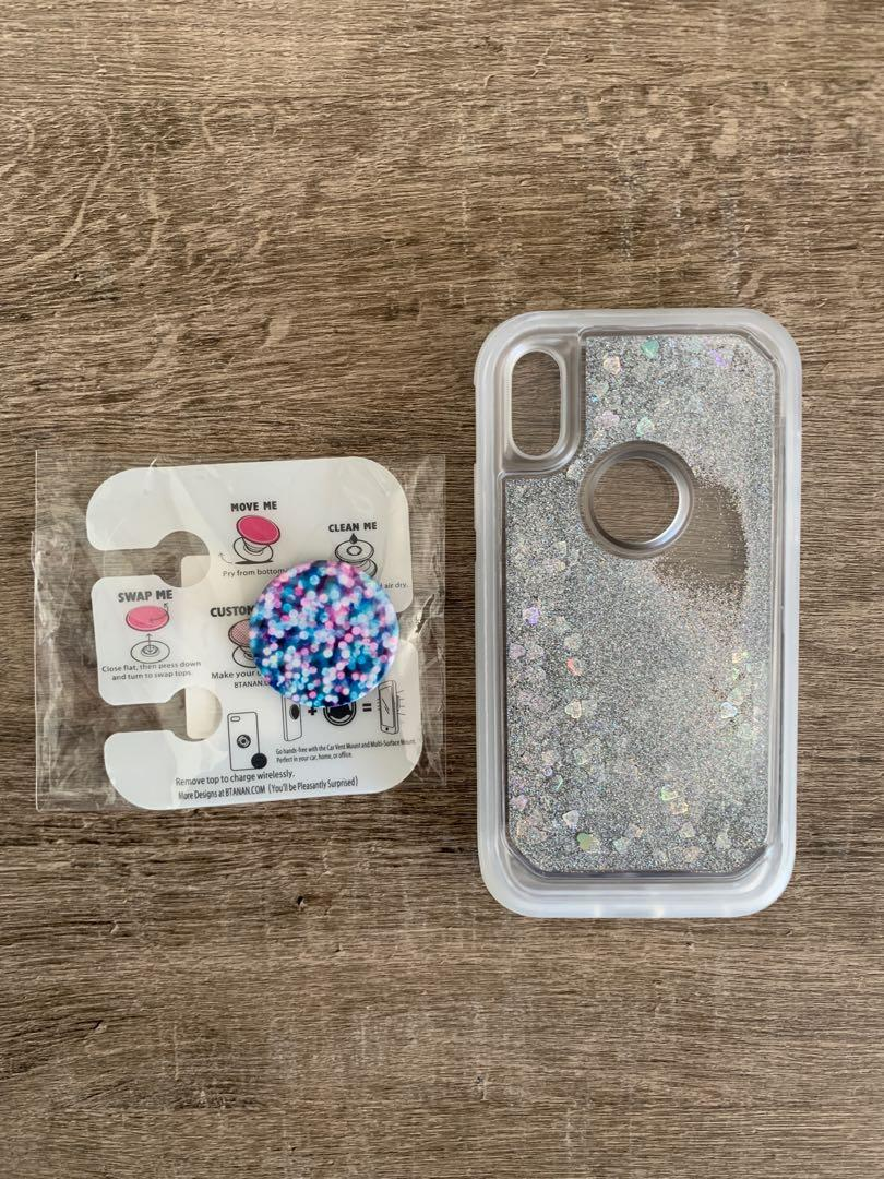 iPhone XR case and pop socket