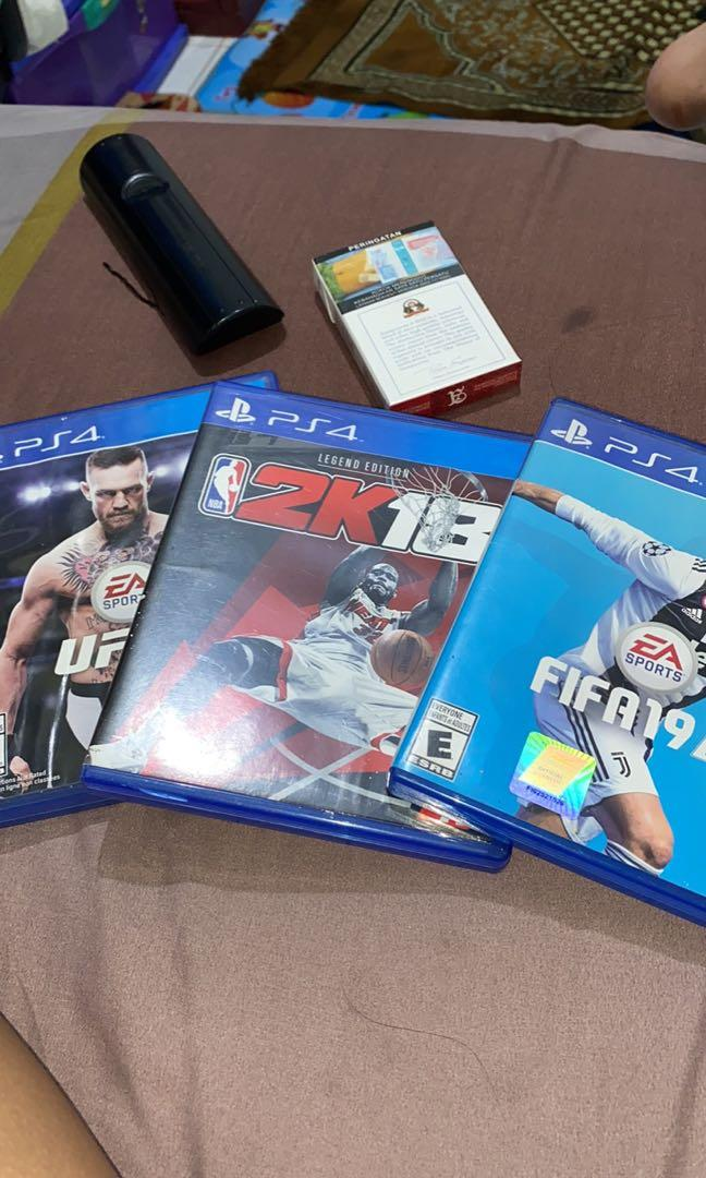 Kaset PS 4 UFC3,FIFA19,NBA2K